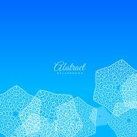 sfondo blu con sfondo di forme astratte