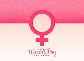 kvinnlig könssymbol på vacker rosa bakgrund