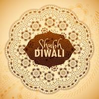 deseos de la tarjeta de felicitación de Shubh Diwali