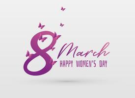 Vektor glückliche Frauentag Grußkarte Designhintergrund