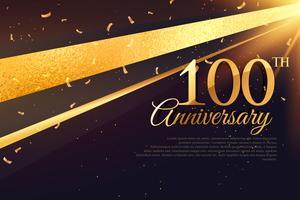 Modèle de carte de célébration du 100e anniversaire