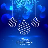 Feliz Navidad hermosa tarjeta de felicitación con bolas de Navidad artísticas