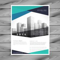 abstract blue company brochure vector template