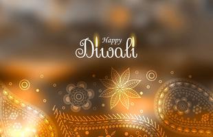 belle diwali salutation fond avec décoration paisley