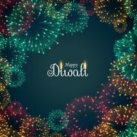 vacker fyrverkerier bakgrund för diwali festival