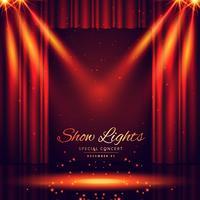 bellissimo palcoscenico teatrale con luci a fuoco