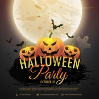 scart halloween pumpkins party invitation