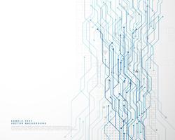 Fondo de red de diagrama de circuito de tecnología