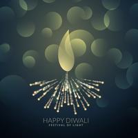artistick diwali diya hecho con fuegos artificiales