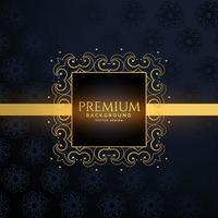 goldener Luxusrahmen mit Textraum