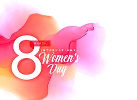 Beauful kvinnodag bakgrund med livfull akvarell effekt