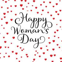 Happy Women's Day hearts background
