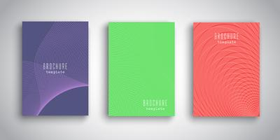 Abstract brochure designs