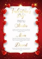 Decorative Valentine's Day menu design