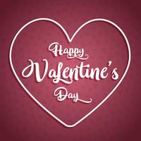 Happy Valentine's day background with decorative text