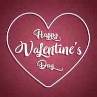 Lycklig Alla hjärtans dag bakgrund med dekorativ text