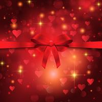 Valentine's day ribbon background  vector