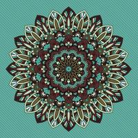 Decorative retro styled mandala design