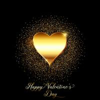 Gold glitter valentines day background  vector