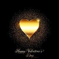Gold glitter valentines day background