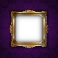 Gold frame on elegant background  vector