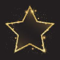 Glittery gold star background vector