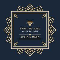 Dark Art Deco Wedding