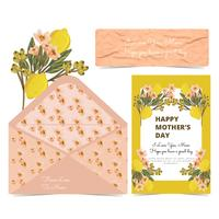 Vector Mother's Day Card and Envelope