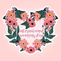 Guirlande florale de vecteur International Women's Day