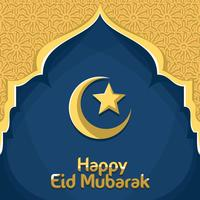 Vetor feliz de Eid Mubarak