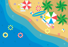 Aerial Beach View Background vector
