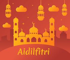 Aidifitri Background Vector