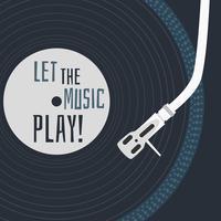 Laissez la musique jouer vecteur