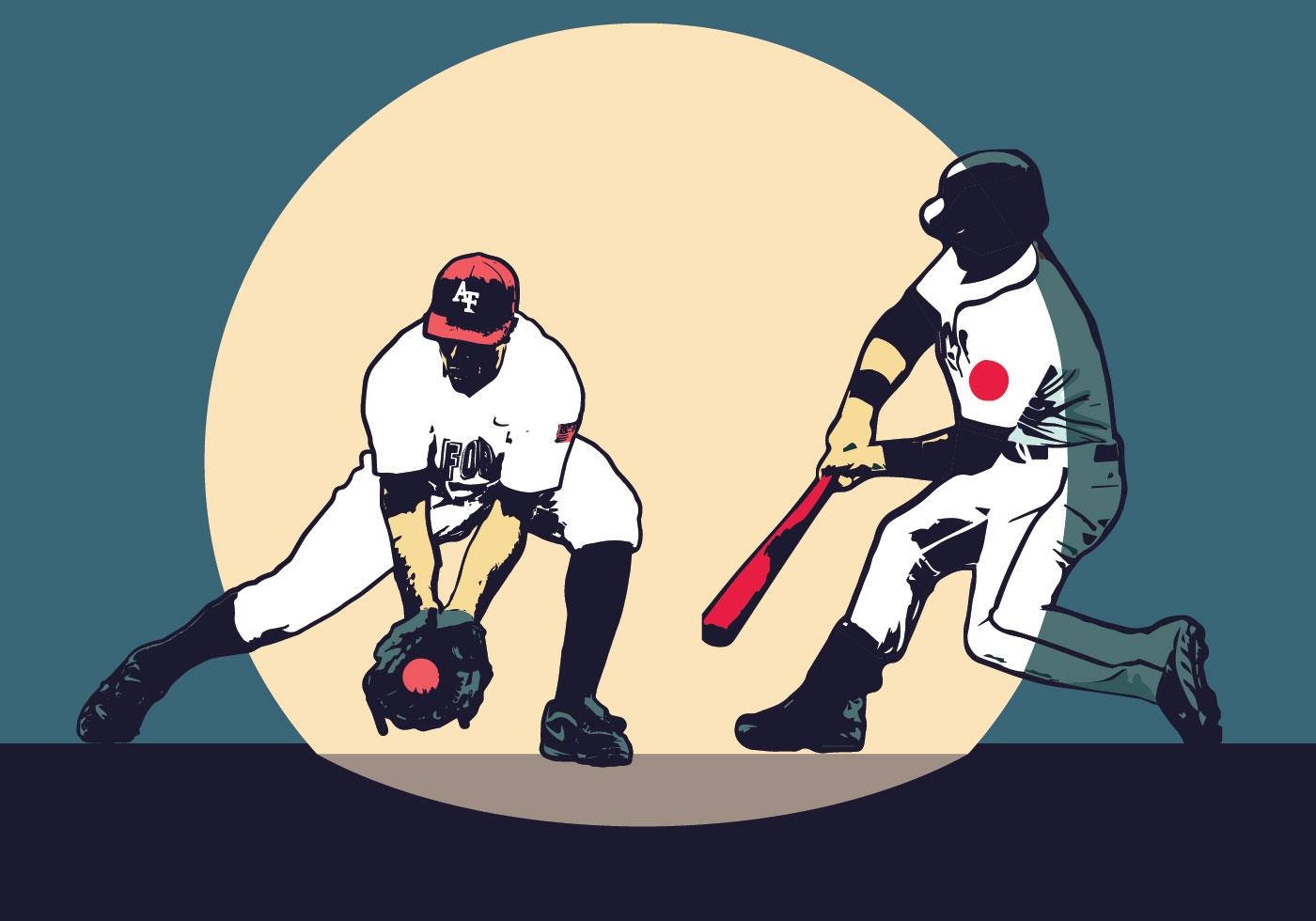 Honkbal speler vector ontwerp - Download Free Vectors, Vector Bestanden,  Ontwerpen Templates