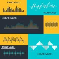 Vecteur de vagues sonores