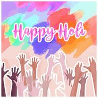 Vector Holi Celebration Composition