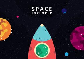 Yttre rymden vykort vektor