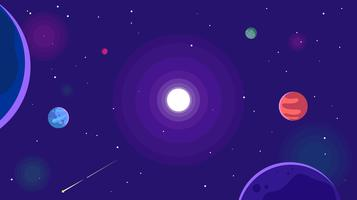 Ultra Violet Galactic Background Free Vector