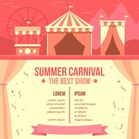 Summer Carnival Poster Free Vector