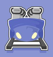 rollercoaster front view flat illustration