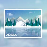 cartão postal de alaska
