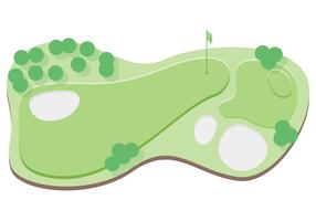 top  view golf course illustration