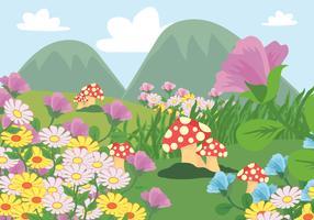 Magisk trädgårdsillustration