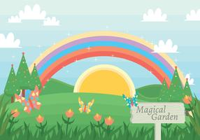 Magical garden vector