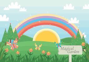 Magical garden vector
