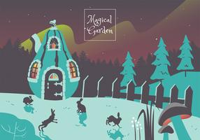 Magischer Garten Vektor-Design
