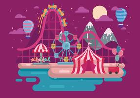 Rollercoaster Illustration Vector