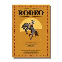 rodeo flyer vektor