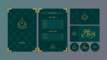 Thai Menu Restaurant Template Vector