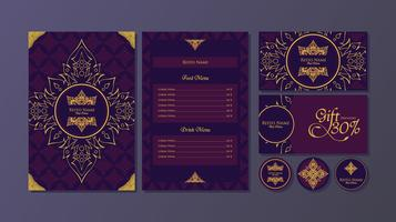 Thai Menu Fine Dining Restaurant Template Vector